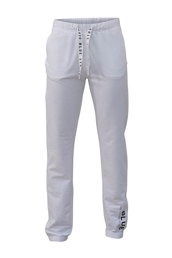 Blue Base Pant White
