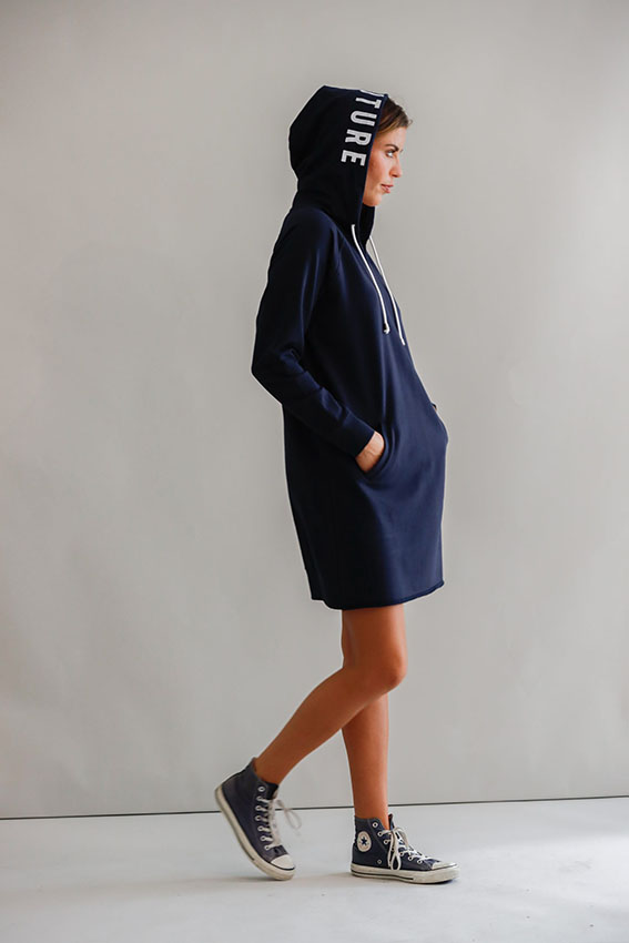 Savona Hood Dress Navy