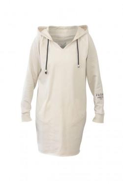Savona Hood Dress Ivory