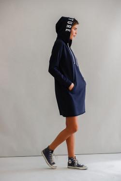 Savona Hood Dress Navy