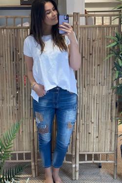 Light Blue Patch Jeans