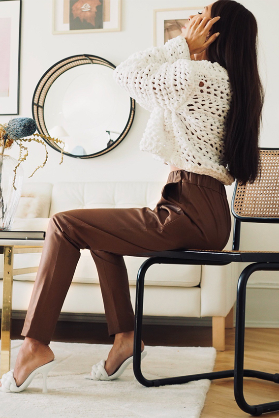 Leather Pant Brown