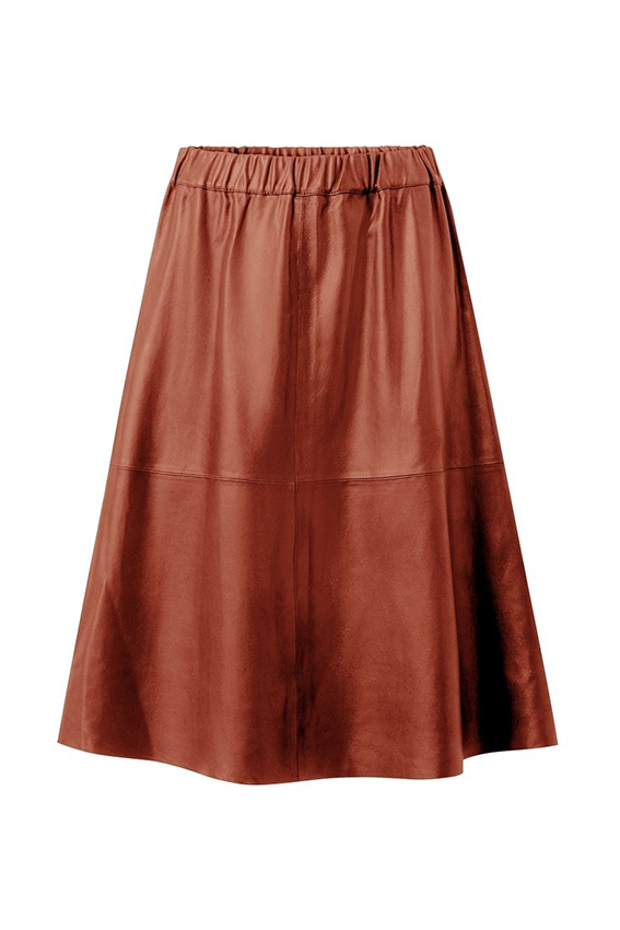 Leather Skirt Paprika