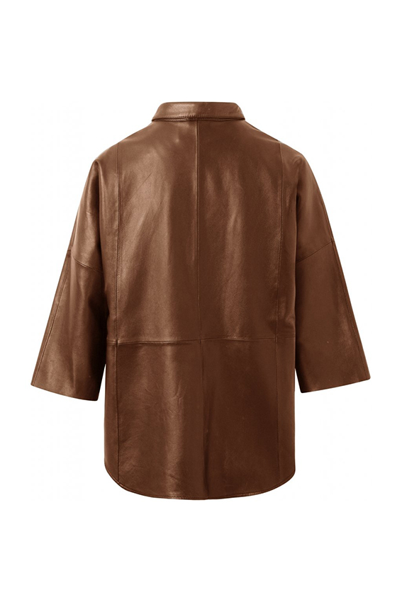 Leather shirt Tobacco