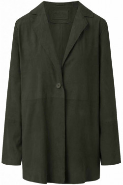 Suede Jacket Forest Green