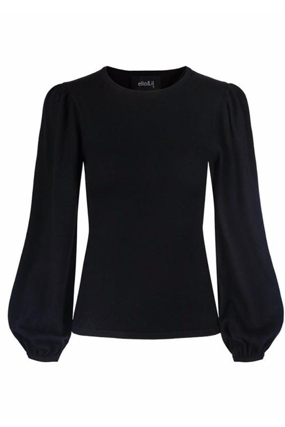 Frida merino sweater black