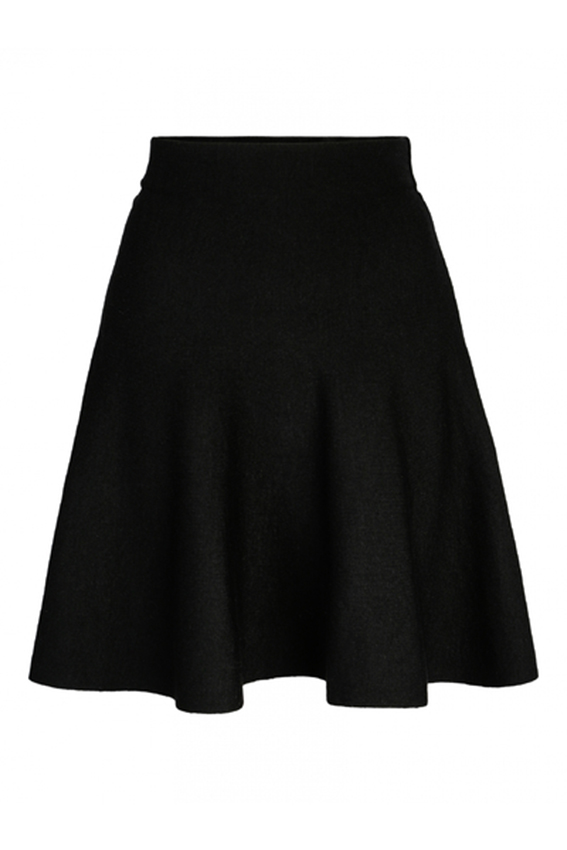 Triny merino skirt black