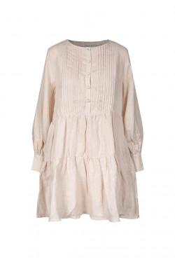 Aria Linen Dress Beige