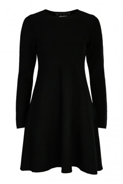 Cecilie merino dress black