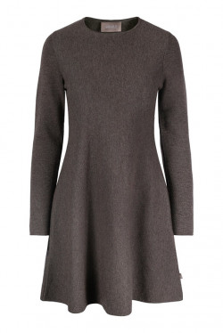 Cecilie merino dress brown