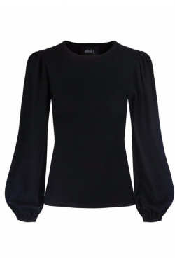 Frida merino sweater black