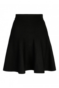 Triny merino skirt black