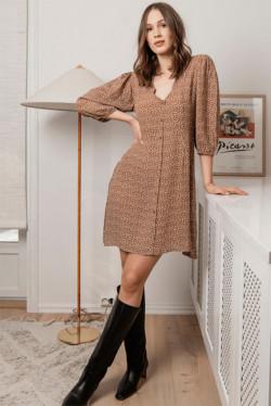 Ella Dress Cinnamon