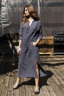 Hanne Maxi Dress Charcoal