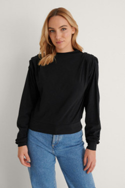 Pleated Detail Sweater