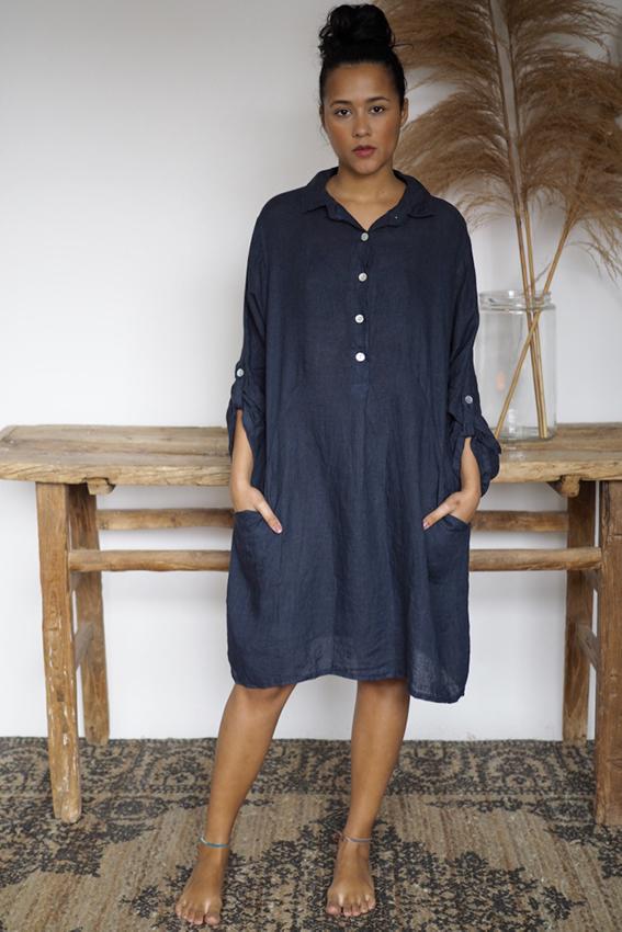 Matilde Dress Navy