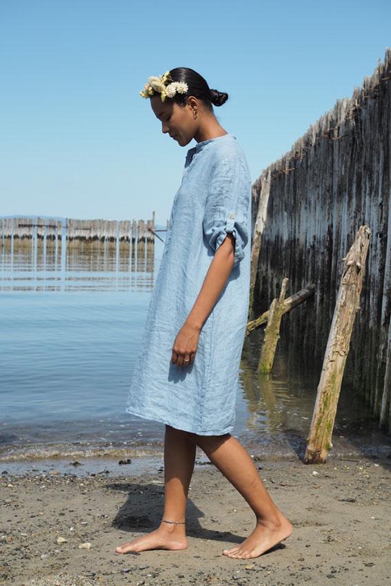 Nora Dress Denim Blue
