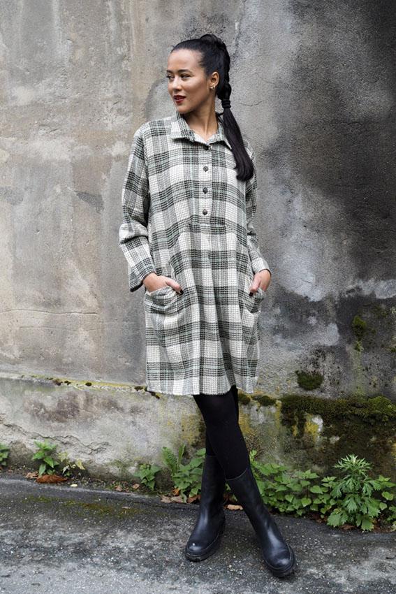 Winter Matilde Moss Plaid