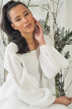 Ebba Linen White