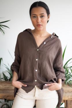 Julie Shirt Chocolate
