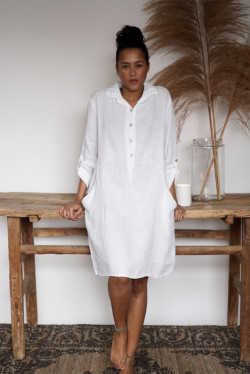 Mathilde Dress White