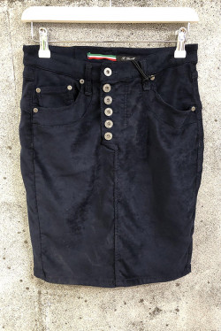 Blue vegan Leather