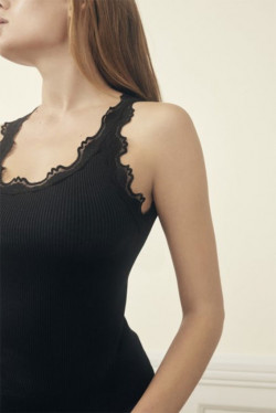 Silk Top Lace Black