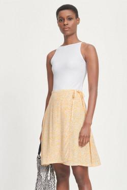 Britt wrap skirt aop
