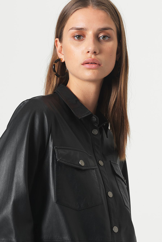 Gitte Leather Shirt