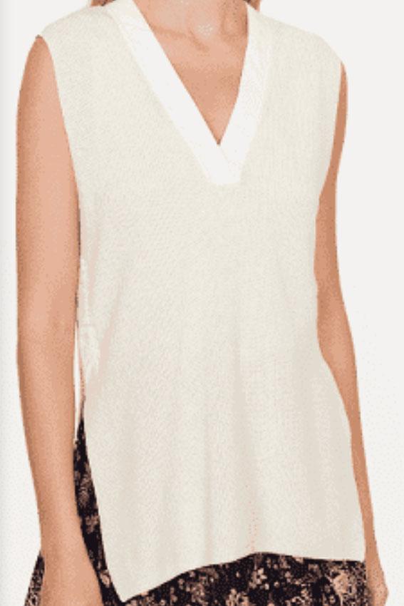 Sapa Knit Vest offwhite