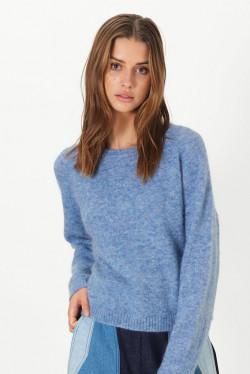 Brook Knit Loose O-Neck Blue