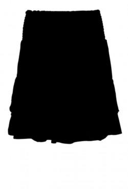 Geo Skirt Black