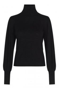 Rosie Knit T-Neck Black