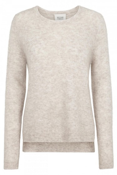 Brook knit o-neck Sand