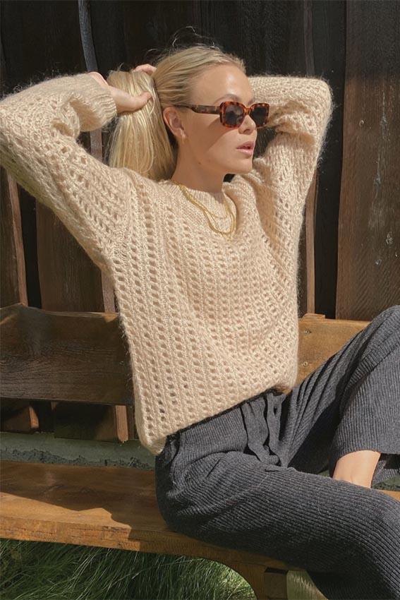 Itzel sweater Sand